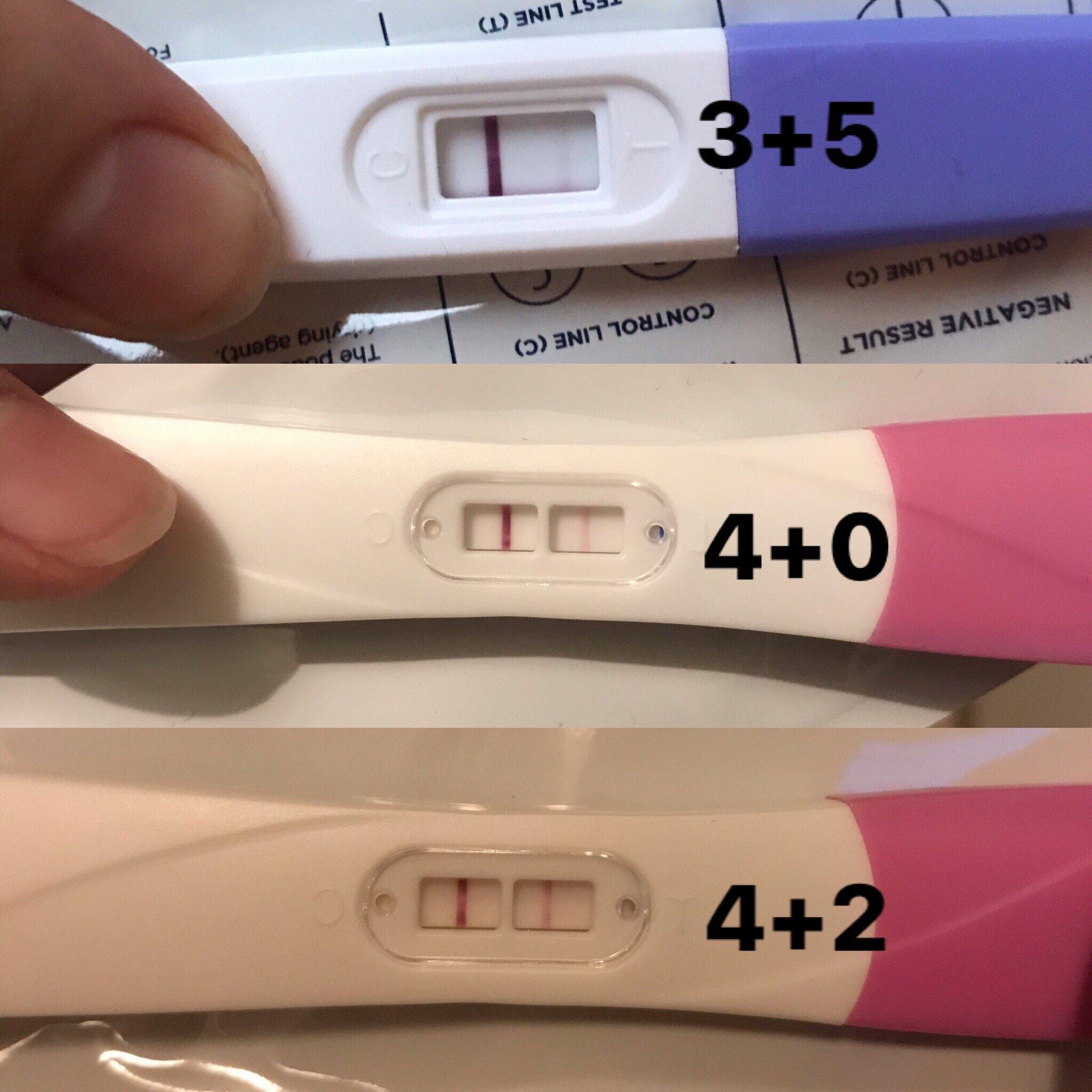 Streg graviditetstest hvid på Graviditetstest