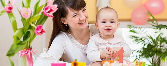 Inspiration til borddækning og pynt til barnedåb