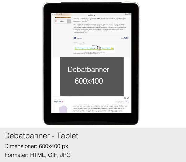 Debatbanner på tablet